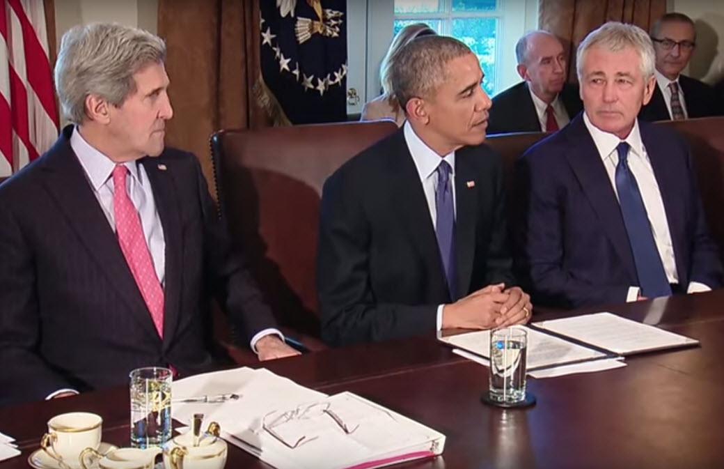 أوباما الرئيس يعقد اجتماع لمجلس الوزراء